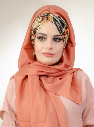 Coral - Printed - Instant Scarf