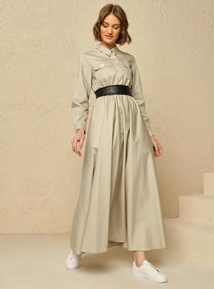 Stone - Point Collar - Dress