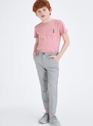 Gray - Boys` Pants - DeFacto