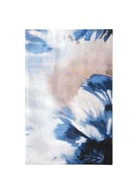 Navy Blue - Printed - Shawl