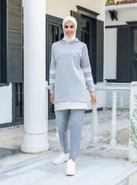 Gray - Sweat-shirt