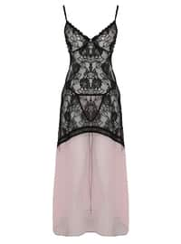 White - Pink - Nightdress