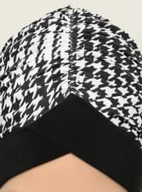 Black - Printed - Instant Scarf