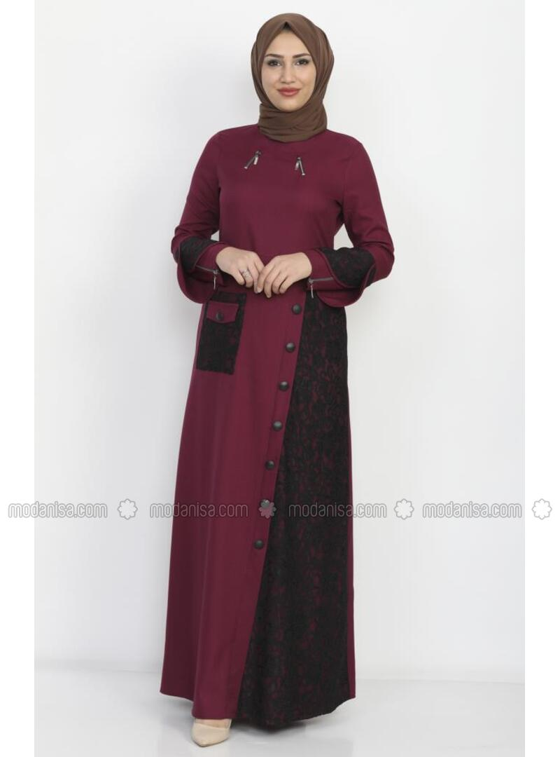 Unlined - Plum - Dress