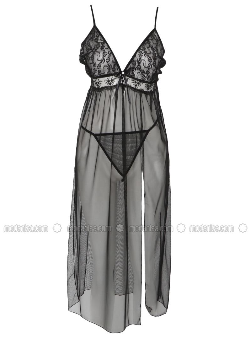 Black - Nightdress