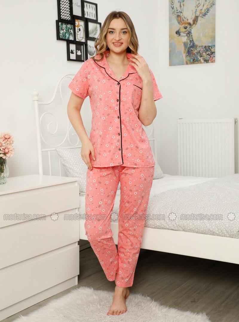 Salmon - Multi - Pyjama Set