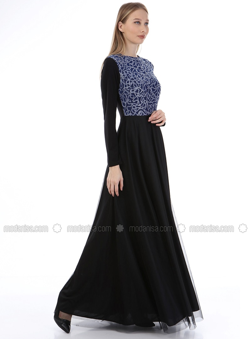 Saxe - Chain - Fully Lined - Crew neck - Modest Evening Dress