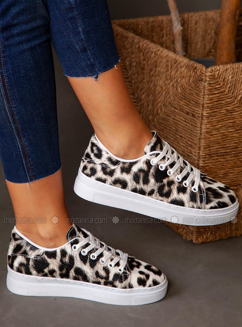 Leopard - Black - Sport - Sports Shoes