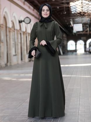 Emerald - Unlined - Crew neck - Muslim Evening Dress