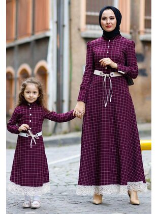 Unlined - Plum - Girls` Dress