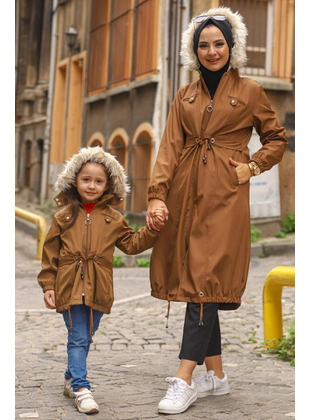 Fully Lined - Tan - Girls` Jacket - MISSVALLE