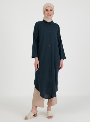 Petrol - Point Collar - Tunic