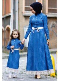 Unlined - Baby Blue - Girls` Dress