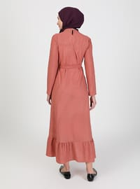 Powder - Multi - Crew neck - Unlined - Modest Dress