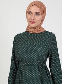 Emerald - Multi - Crew neck - Unlined - Modest Dress