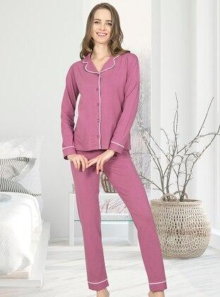 Dusty Rose - Shawl Collar - Pyjama Set