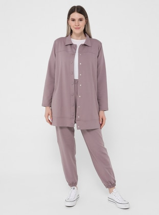 Lilac - Point Collar - Unlined - Plus Size Jacket - Alia