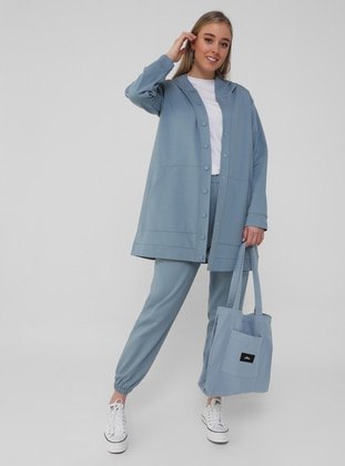 Oversize Cape / Topcoat - Ice Blue