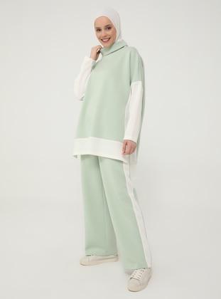 White - Mint - Unlined - Suit - Casual