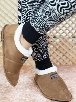 Tan - Home Shoes