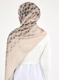 Beige - Printed - Shawl