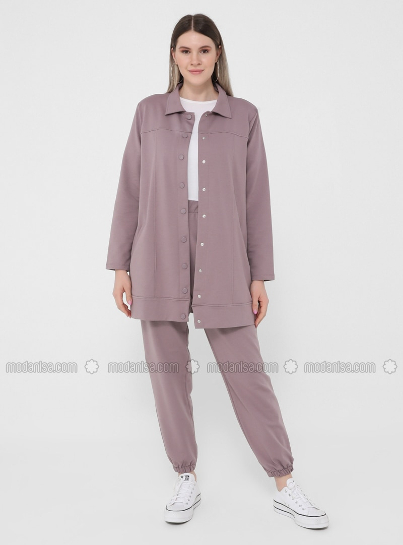 Lilac - Point Collar - Unlined - Plus Size Jacket