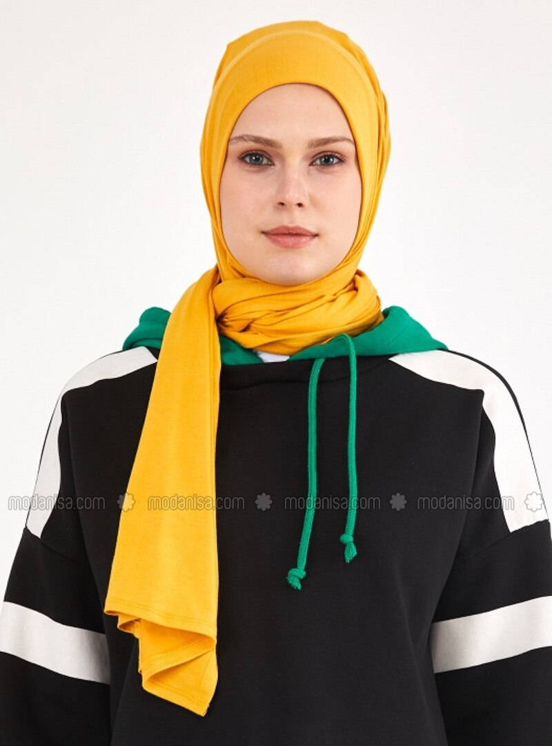 Mustard - Plain - Shawl