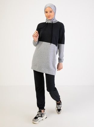 Anthracite - Gray - Tracksuit Set