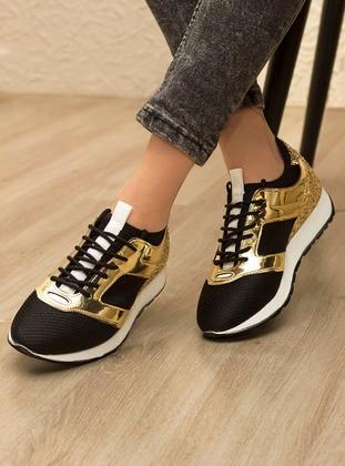 Gold - Black - Sport - Sports Shoes