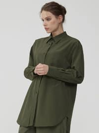 Khaki - Point Collar - Tunic