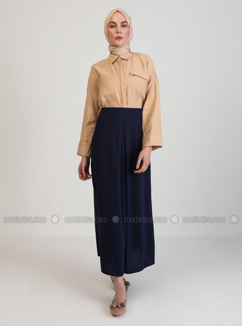 Navy Blue - Fully Lined - Skirt