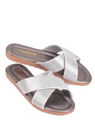 Multi - Sandal - White - Silver - Home Shoes