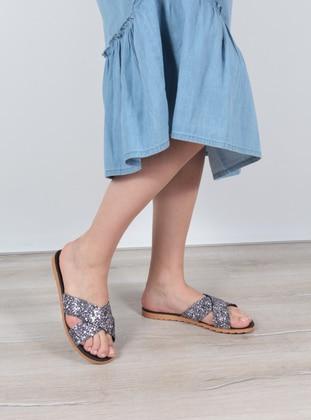 Multi - Sandal - Silver - Home Shoes