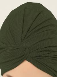 Khaki - Plain - Instant Scarf