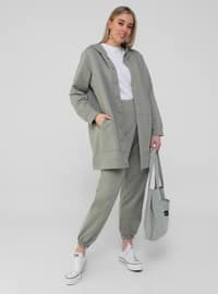 Oversize Trousers - Oil Green