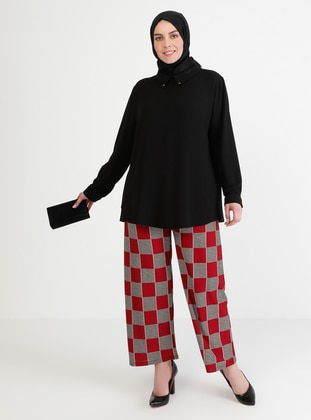 Red - Multi - Pants