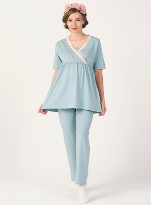 Sea-green - Maternity Pyjamas - PrettyChic