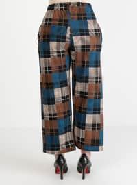 Navy Blue - Multi - Pants