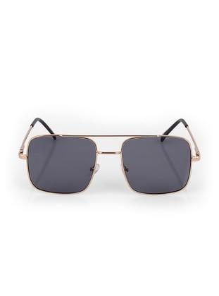 Gold - Black - Sunglasses