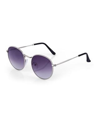 Silver tone - Black - Sunglasses