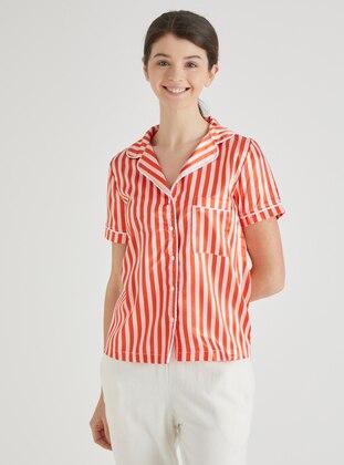 V neck Collar - Stripe - Pyjama