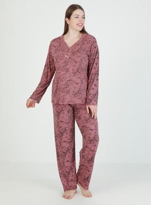 Dusty Rose - Multi - Plus Size Pyjamas