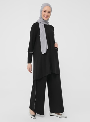 Black - Unlined - Suit - Casual