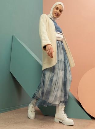 Indigo - Multi - Fully Lined - Skirt