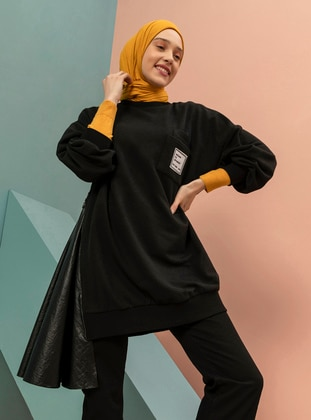Crew neck - Black - Sweat-shirt