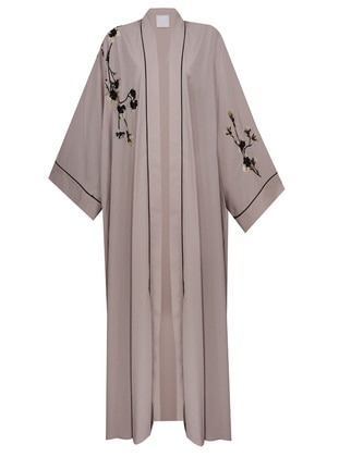 Beige - Multi - Unlined - Abaya