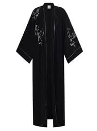 Black - Multi - Unlined - Abaya