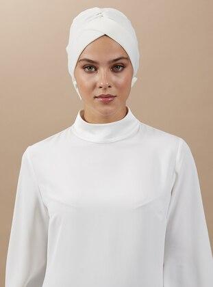 Ecru - Plain - Instant Scarf