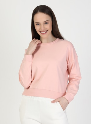 Crew neck - Pink - Sweat-shirt