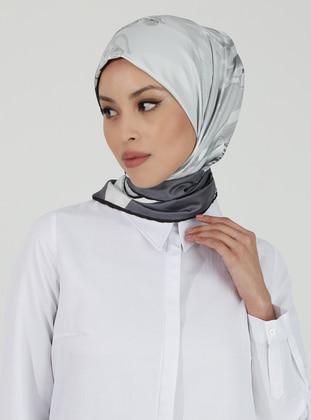 Gray - Printed - Scarf